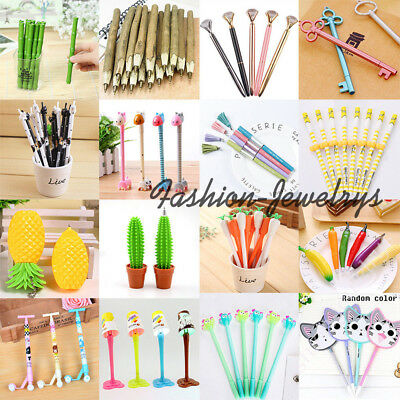 28 Style Cute Cartoon Gel Ink Ballpoint Pens School Office Supplies Stationery
