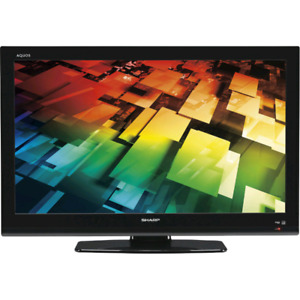 """Used 32"""" SHARP LCD TV with Table Stand AND Wall Mount"""