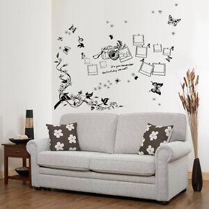 Adesivi da muro wall art decorazioni foto cornici per for Cornici a muro per foto