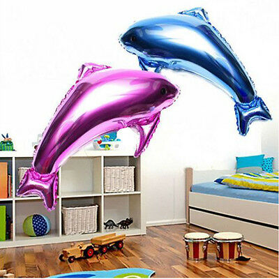 Happy Birthday Party Decoration foil balloon Dolphin Helium Balloon Child's Gift - Dolphin Happy Birthday