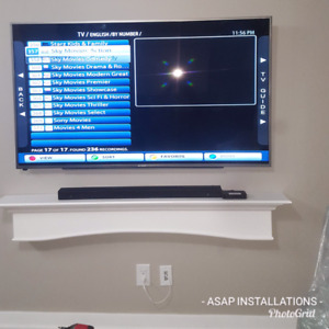 $100 SAME DAY TV WALL MOUNTING SERVICE AVAILBLE 4165799032