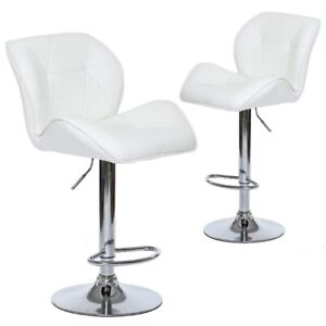 Set of 2 Tripatch Modern PU Height Adjustable Dining Bar Stool i