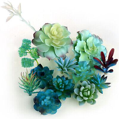 1PC Blue Tone Artificial Succulent Cactus Aloe Faux Plant Garden Home Decor - Artificial Succulent