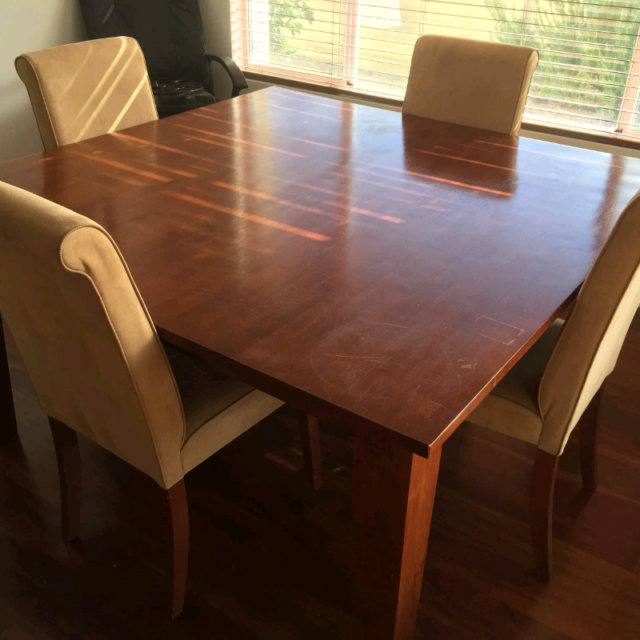 Wooden Dining Table With Chairs Dining Tables Gumtree