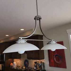 2 lamp dining or rec room fixture