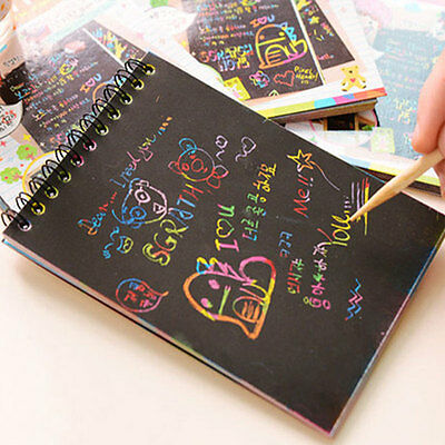 Magic Scratch Art Painting Book Paper Colorful Educational Playing Toys