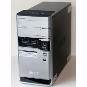 Acer Aspire E380 Desktop PC AMD Dual Core 4GB RAM 250GB HDD DVD