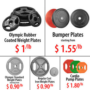Standard Regular Cast Iron Weight Plates Olympic Rubber Bumper