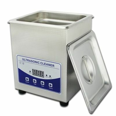 220v 2l Stainless Ultrasonic Cleaner Dental Lab Jewelry Cleaning Tank W Heater