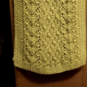 Beautiful Alpaca Cabled Scarf - Made in Ireland