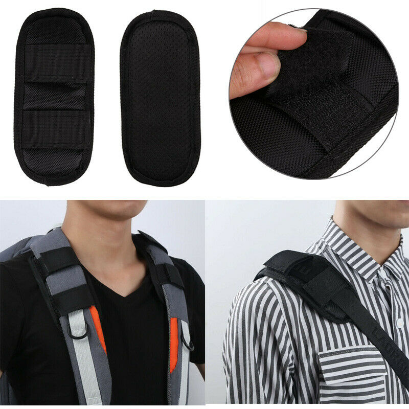 2 Non Slip Shoulder Strap Pad Mat Hook Loop Fastener Cushion