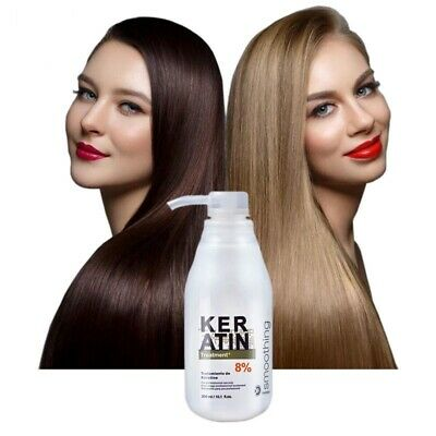 Brazilian Keratin 8% Formalin Treatment Straightening Hair Eliminate Frizz 300ml
