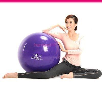65cm Purple Exercise Anti Burst Fitness Pilates Pregnancy Gym Yoga Swiss Ball