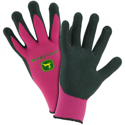 Womens John Deere Nitrile Coated Grip Gloves Pink - Lp42427