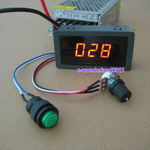 DC 6-30V 12V 24V MAX 8A MOTOR PWM SPEED CONTROLLER WITH DIGITAL DISPLA