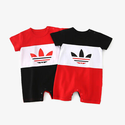 New Baby Newborn Girl Boy Short Sleeve Romper w/ Stars Bodysuit Jumpsuit Clothes