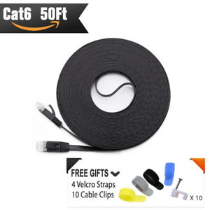 CAT 6 Ethernet Cable 50 FT -BLACK