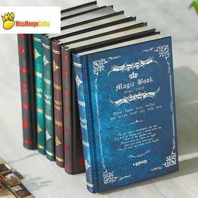 """Magic Book"" 1pc Vintage Hard Cover Diary Retro Notebook Study Journal Planner"