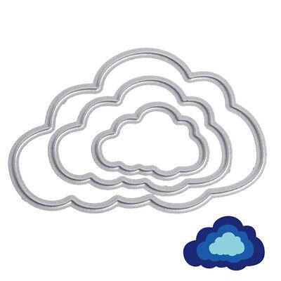 3 Clouds Metal Cutting Dies DIY Scrapbooking Embossing Folder Paper Card - Cloud Paper