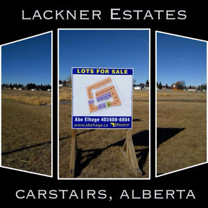 Lots available in Lackner Estates in Carstairs, AB