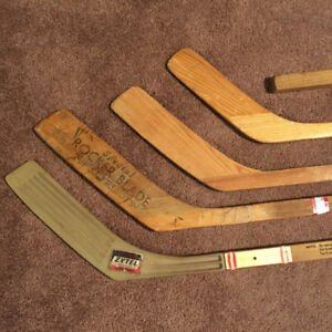 Antique Vintage Hockey Sticks