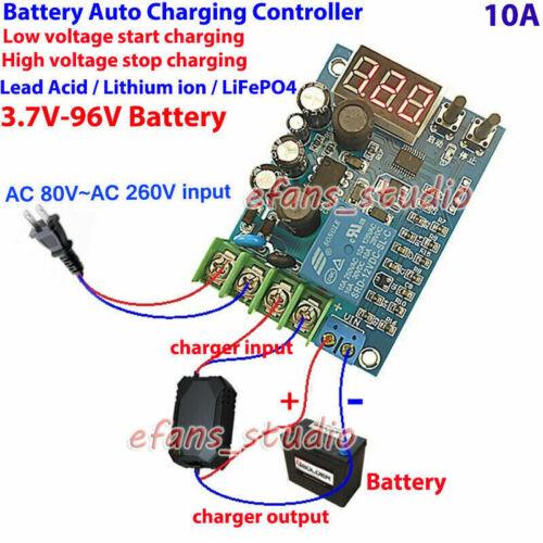 12V 24V 36V 48V 60V 96V 10A Battery Charger Automatic Charging Controller Module