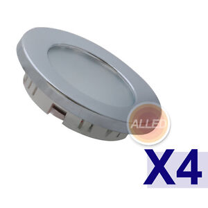 4X12V-Cool-White-LED-Recessed-Down-Light-Chrome-Plated-Super-Bright-Caravan-Lamp