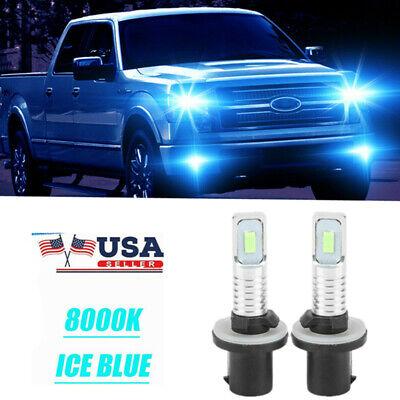 2x 880 890 892 893 899 80W 8000K Ice Blue LED Fog Light Bulbs Kit Super