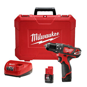 Milwaukee M12 Hammer Drill Kit, incl 2 x Batt + Charger. BNIB