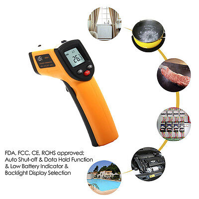 Digital Temp Meter Gun Ir Non-contact Infrared Thermometer Laser Temperature A