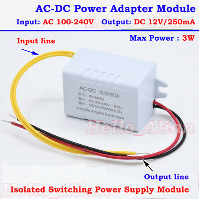 Ac-dc Converter 110v 220v 230v To 12v 250ma Isolated Power Switching Transformer