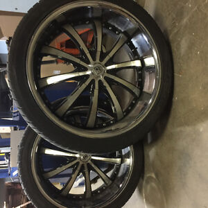295/35R24 rims and tires