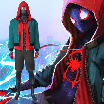 Ultimate Amazing Spider-Man Miles Morales Cosplay Kostüm Costume Hoodie - Ultimate Spiderman Miles Morales Kostüm