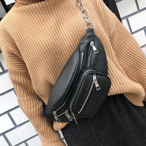 Women's Fanny Pack Purse Shoulder Chest Waist Bag Chain Zipp