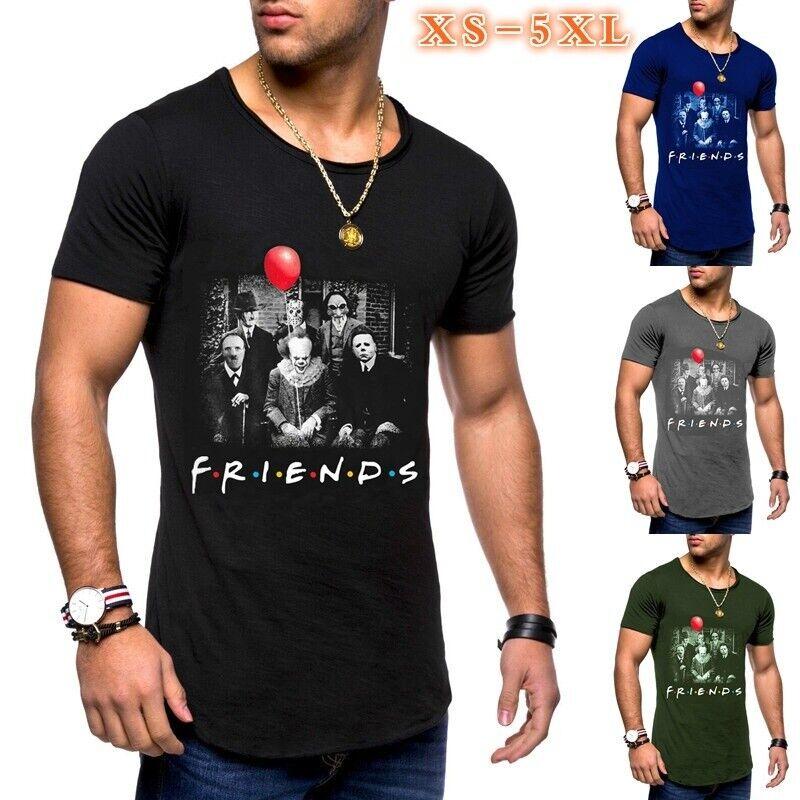 Friends Herren Horror Clown T-Shirt | DE | Fun Shirt | Horror-Fan | Film Tops