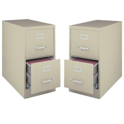 Value Pack Set Of 2 2 Drawer Vertical Letter File Cabinet In Putty