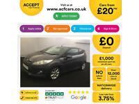 Ford Fiesta 1.0, 1.2, 1.4, 1.6 Titanium Zetec GREY, 3dr FROM £20 PER WEEK