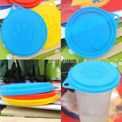 2pcs New Pet Dog Cat Food Snack Can Tin Lid Covers Food Cove