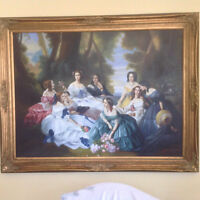 Portrait Of 'Empress Eugenie Surrounded By Her Maids Of Honor' A