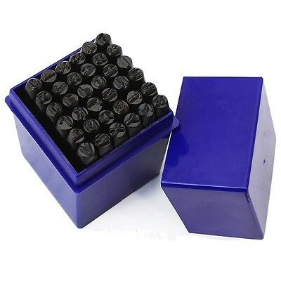 4MM 36-PC Punch Stamps Metal Capital Letter & Number Marking DIY Jewelry Tools