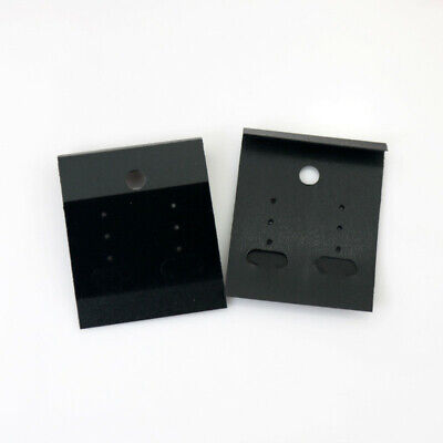 Black Velvet Jewelry Earring Studs Display Holder Hanging Cards Flocked 100pcs