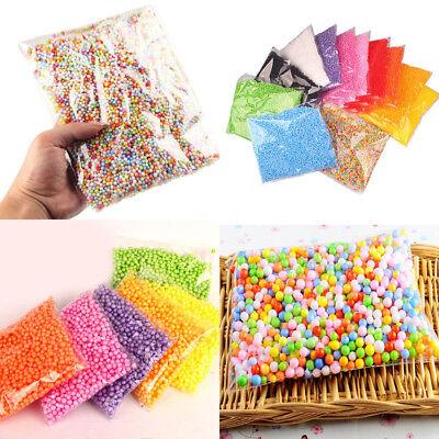 Mini Foam Ball (Rainbow Assorted Colors Mini Foam Balls Beads Styrofoam Filler Manual DIY)