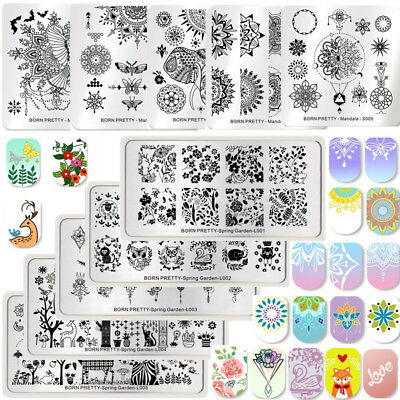 Born Pretty Nail Art Stamping Plates Halloween Christmas Theme Manicure Template - Halloween Themed Art
