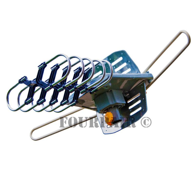 HDTV 1080P Outdoor Amplified Digital Antenna 360 Rotor HD TV UHF VHF FM 150 Mile