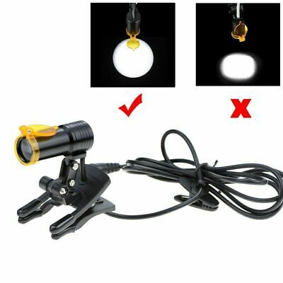 5w Dental Medical Led Head Light With Filter Clip-on Headlight For Glasses Black