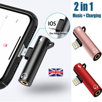 For iPhone XR XS X 8 7 Lightning to 3.5mm AUX Headphone Jack Audio Cable Adapter