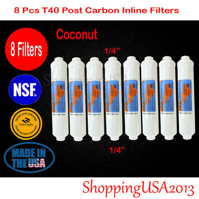 "8 Pcs Omnipure T40 Post Coconut Carbon Filter 10X2"" RO REVERSE OSMOSIS Water"