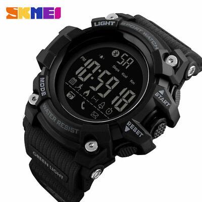 SKMEI LED Smart Watch Digital Militär Bluetooth Pedometer Armbanduhr Android 50m