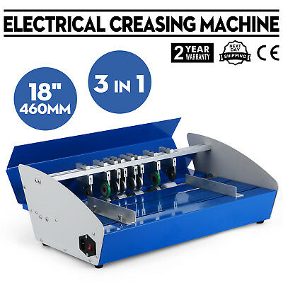 New 18 Electric 3-in-1 Scorer Perforator Paper Creasing Machine Scoring Creaser