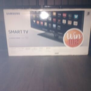 "New 55"" Samsung Smart TV."